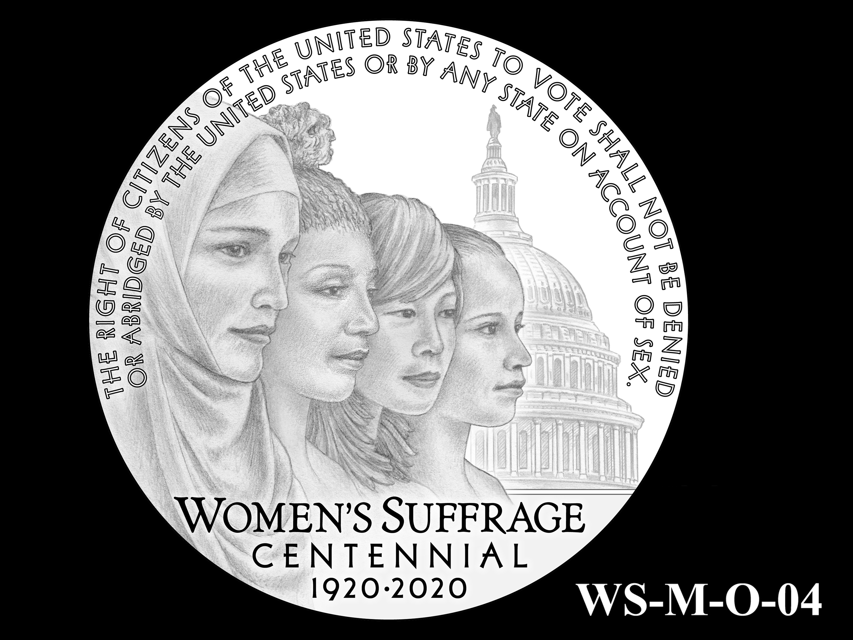 WS-M-O-04 -- Women's Suffrage Centennial Program - Modern Focus - Obverse