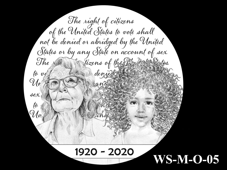 WS-M-O-05 -- Women's Suffrage Centennial Program - Modern Focus - Obverse