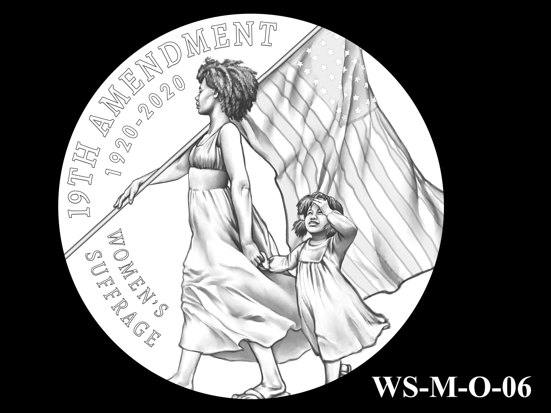 WS-M-O-06 -- Women's Suffrage Centennial Program - Modern Focus - Obverse