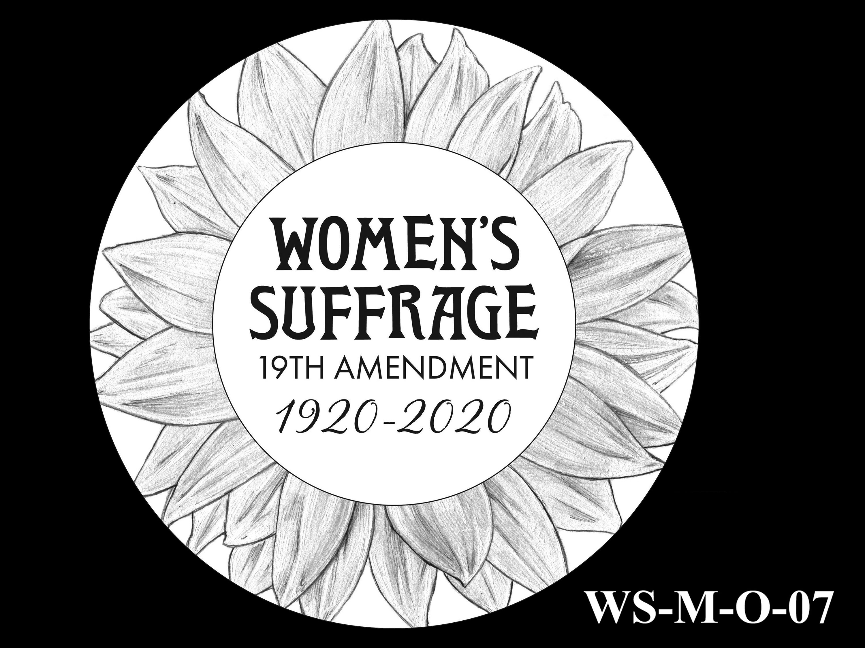 WS-M-O-07 -- Women's Suffrage Centennial Program - Modern Focus - Obverse