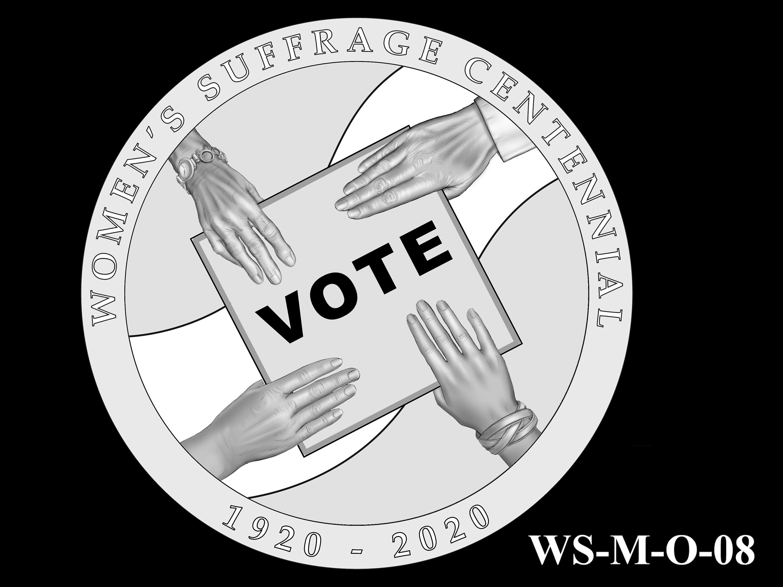 WS-M-O-08 -- Women's Suffrage Centennial Program - Modern Focus - Obverse