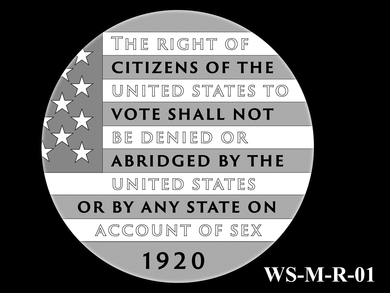 WS-M-R-01 -- Women's Suffrage Centennial Program - Modern Focus - Reverse