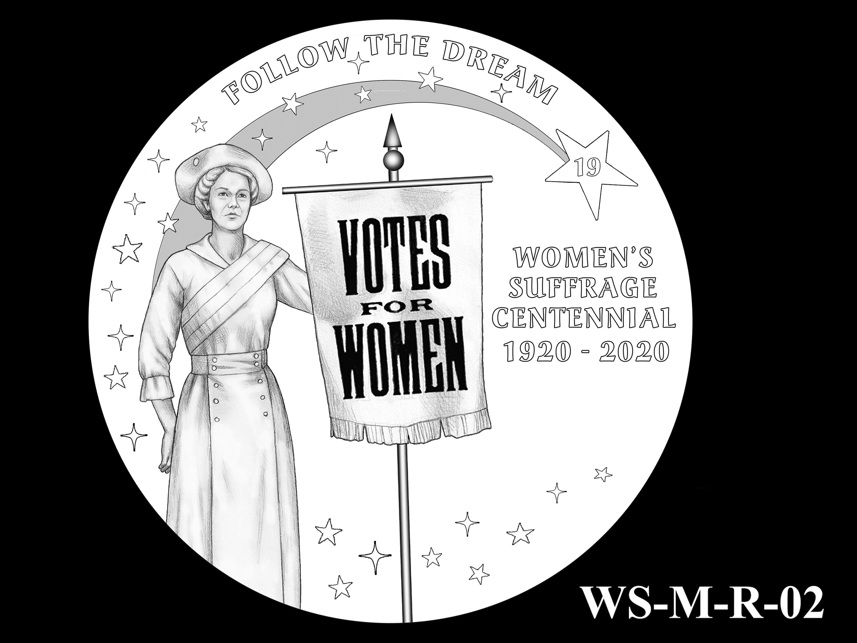 WS-M-R-02 -- Women's Suffrage Centennial Program - Modern Focus - Reverse