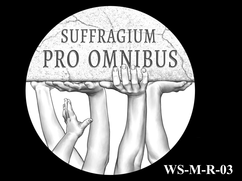 WS-M-R-03 -- Women's Suffrage Centennial Program - Modern Focus - Reverse