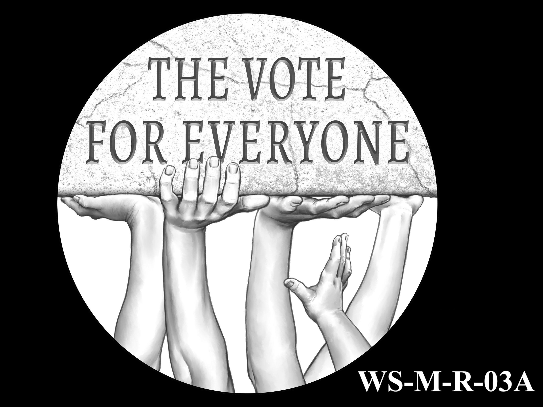 WS-M-R-03A -- Women's Suffrage Centennial Program - Modern Focus - Reverse