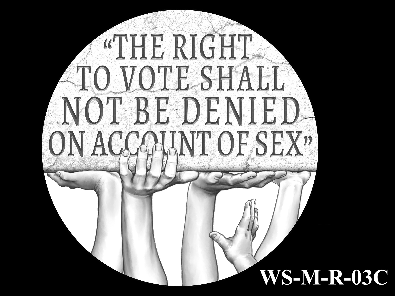 WS-M-R-03C -- Women's Suffrage Centennial Program - Modern Focus - Reverse