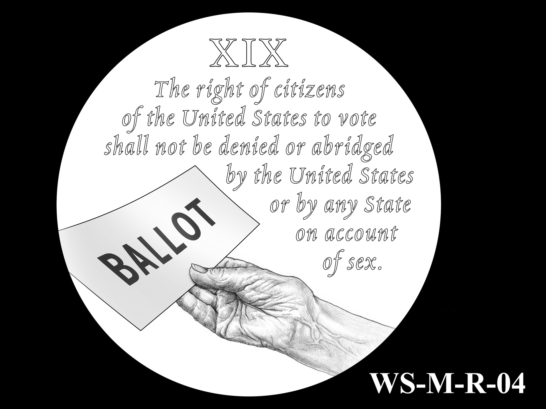 WS-M-R-04 -- Women's Suffrage Centennial Program - Modern Focus - Reverse