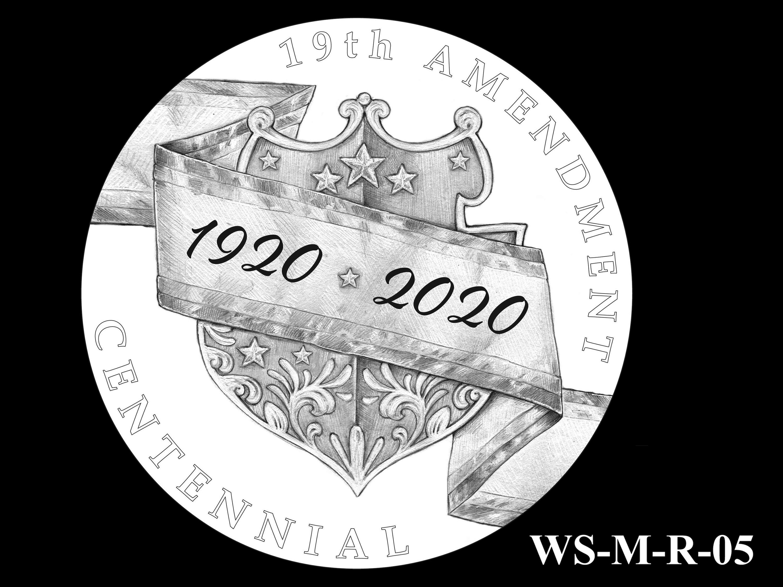 WS-M-R-05 -- Women's Suffrage Centennial Program - Modern Focus - Reverse