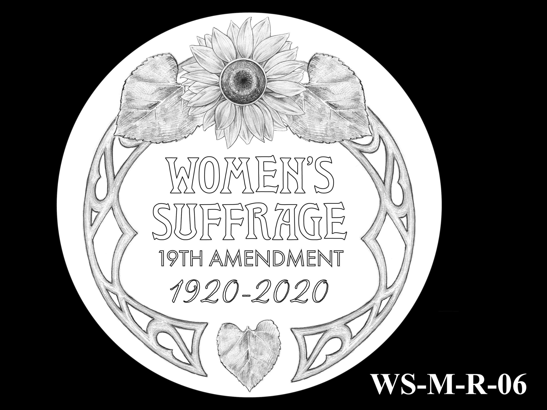 WS-M-R-06 -- Women's Suffrage Centennial Program - Modern Focus - Reverse