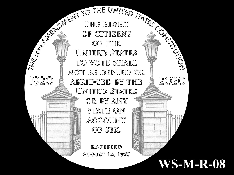WS-M-R-08 -- Women's Suffrage Centennial Program - Modern Focus - Reverse