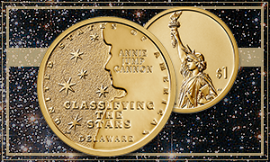 Homepage News feature image with 2019 Delaware American Innovation $1 Coin with background of stars