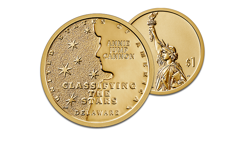 2019 American Innovation $1 Delaware coin Classifying the Stars Annie Jump Cannon homepage hero foreground image