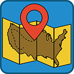 Map Mania kids game icon