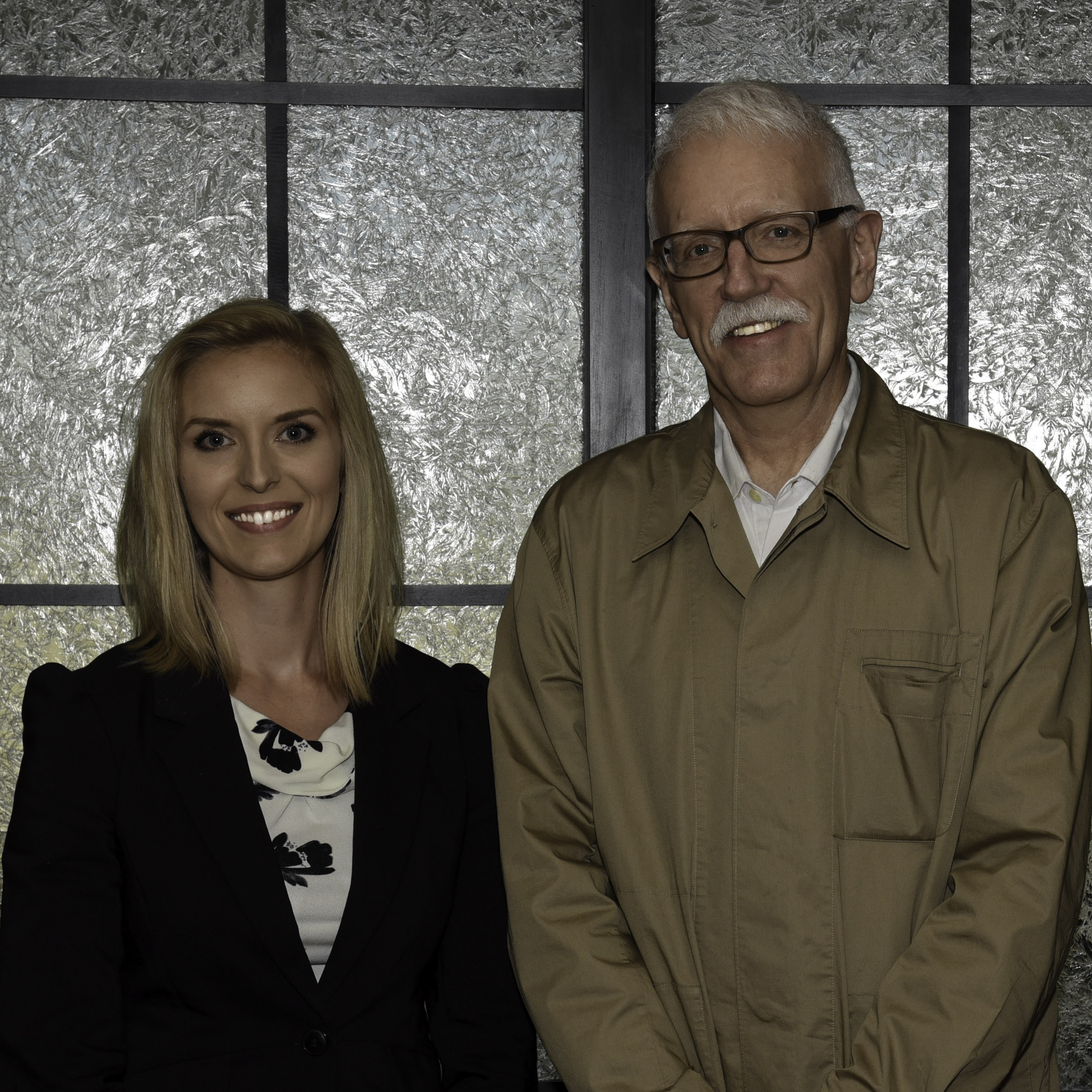 New AIP member Katelyn Arquette (left) studied under veteran AIP member Richard Masters (right) at the University of Wisconsin-Oshkosh in 2010.