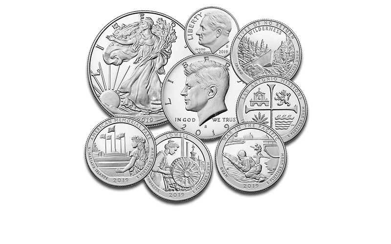 2019 proof coins homepage foreground image