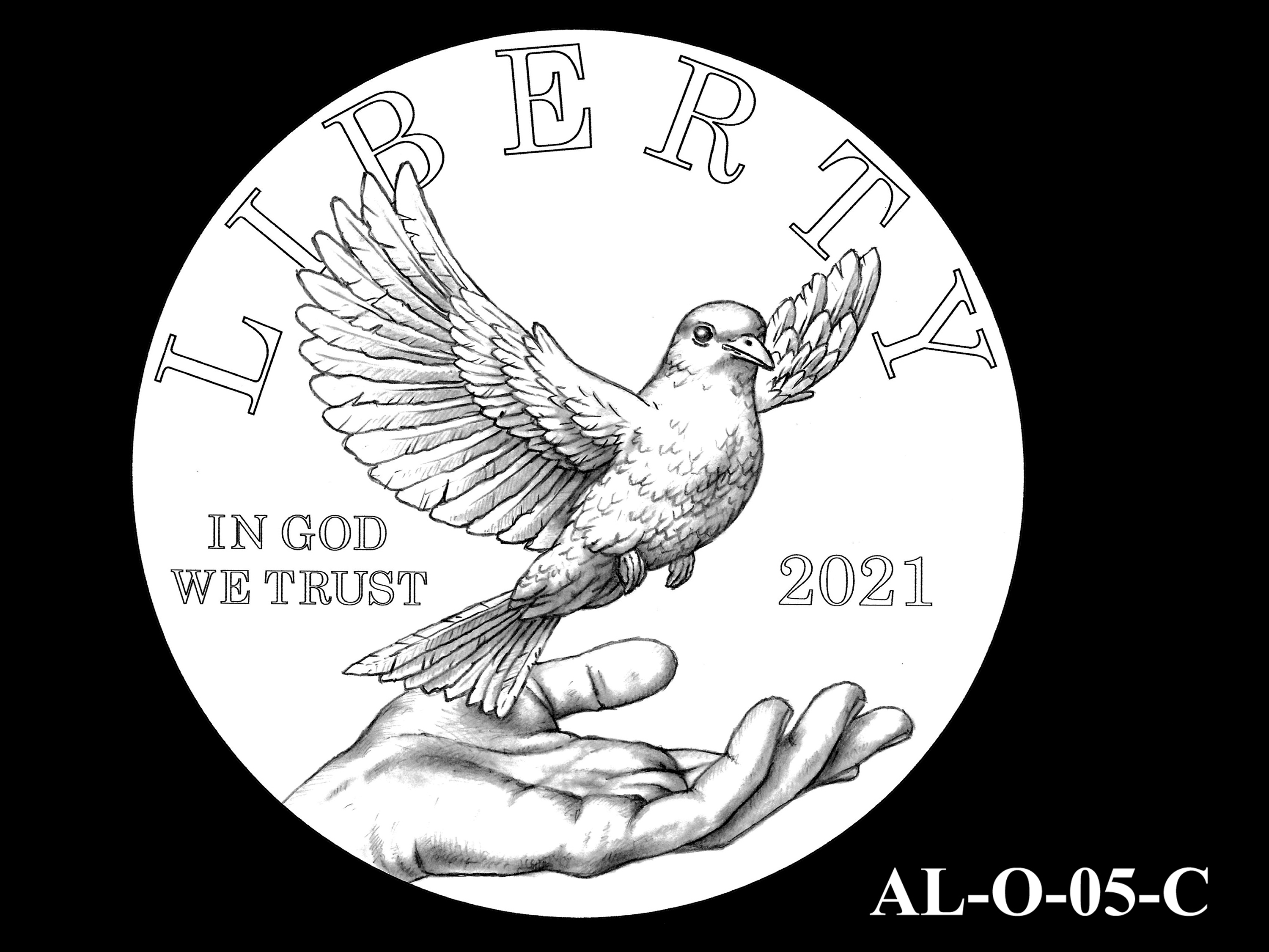 AL-O-05-C -- 2021 American Liberty Gold Coin and Silver Medal Program - Obverse