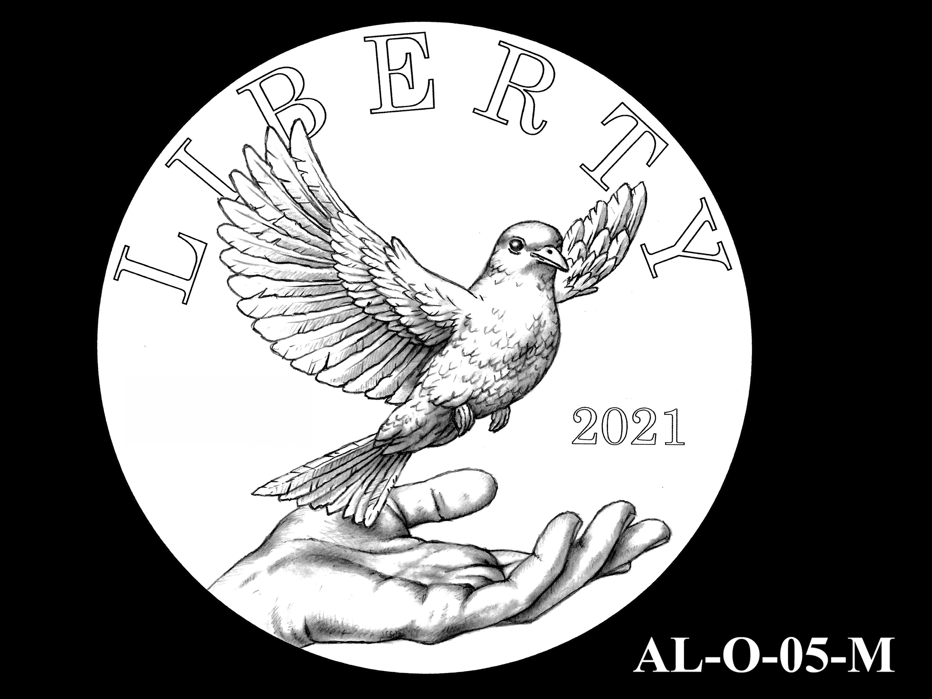 AL-O-05-M -- 2021 American Liberty Gold Coin and Silver Medal Program - Obverse
