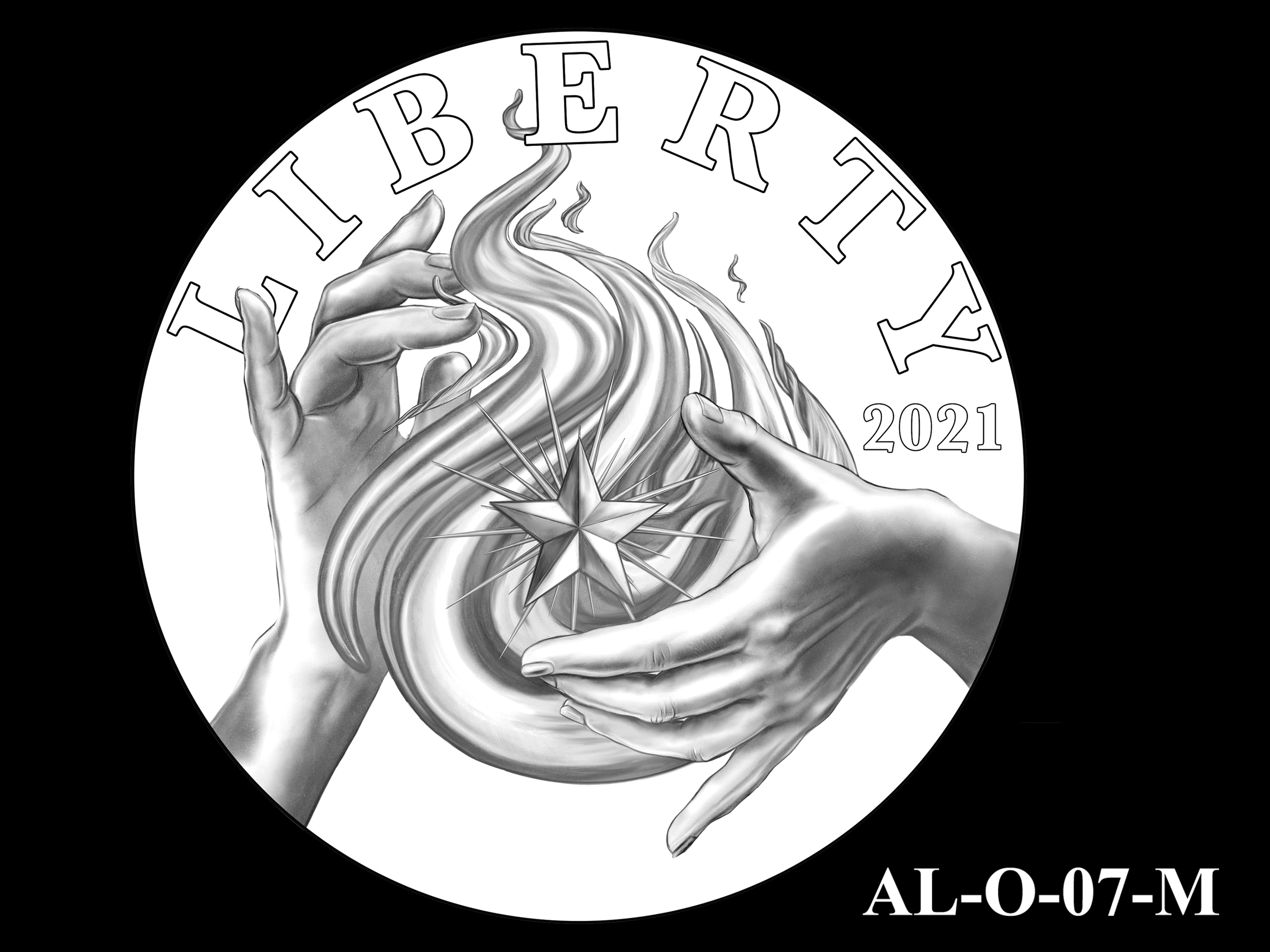 AL-O-07-M -- 2021 American Liberty Gold Coin and Silver Medal Program - Obverse