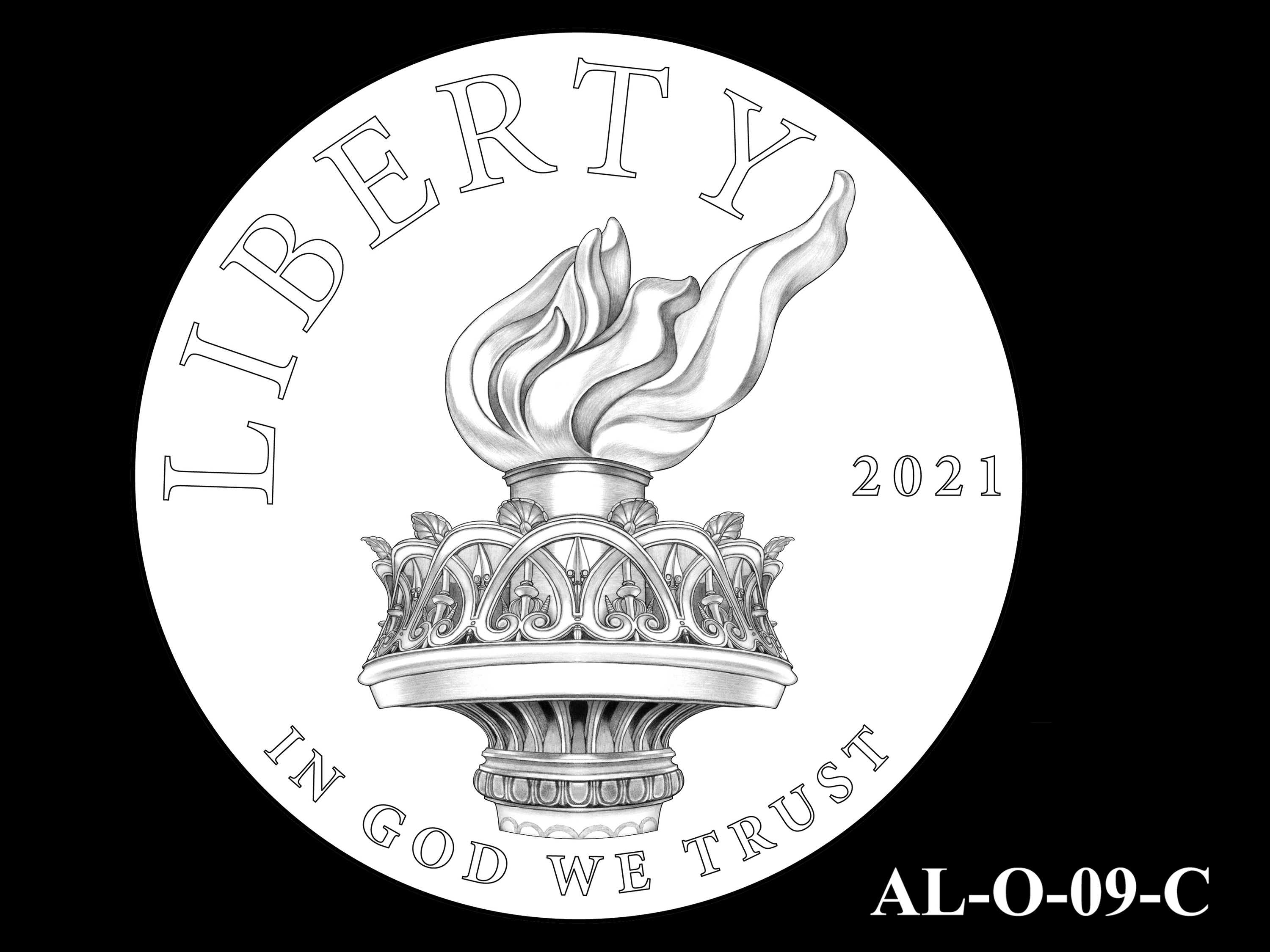AL-O-09-C -- 2021 American Liberty Gold Coin and Silver Medal Program - Obverse
