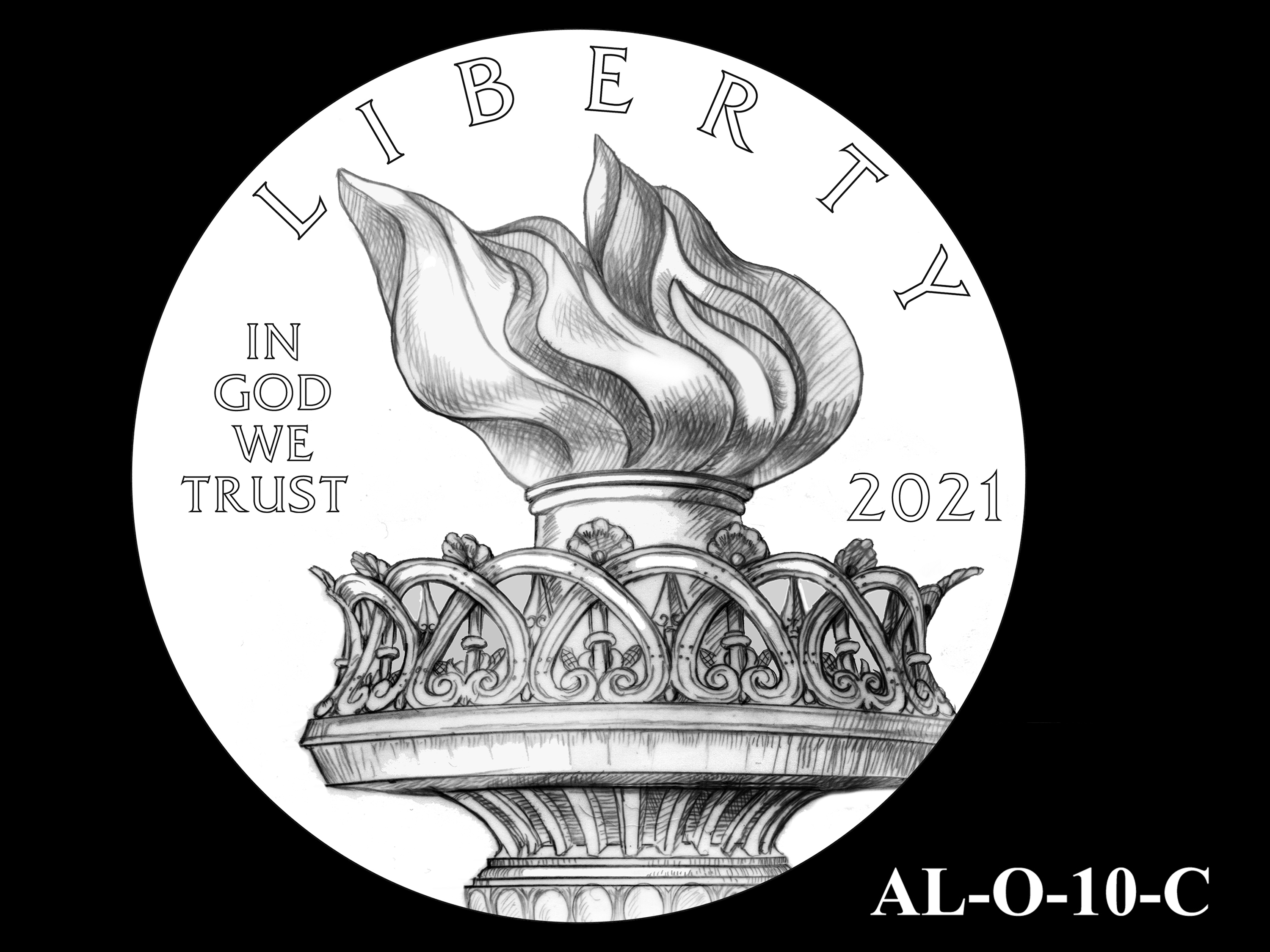 AL-O-10-C -- 2021 American Liberty Gold Coin and Silver Medal Program - Obverse