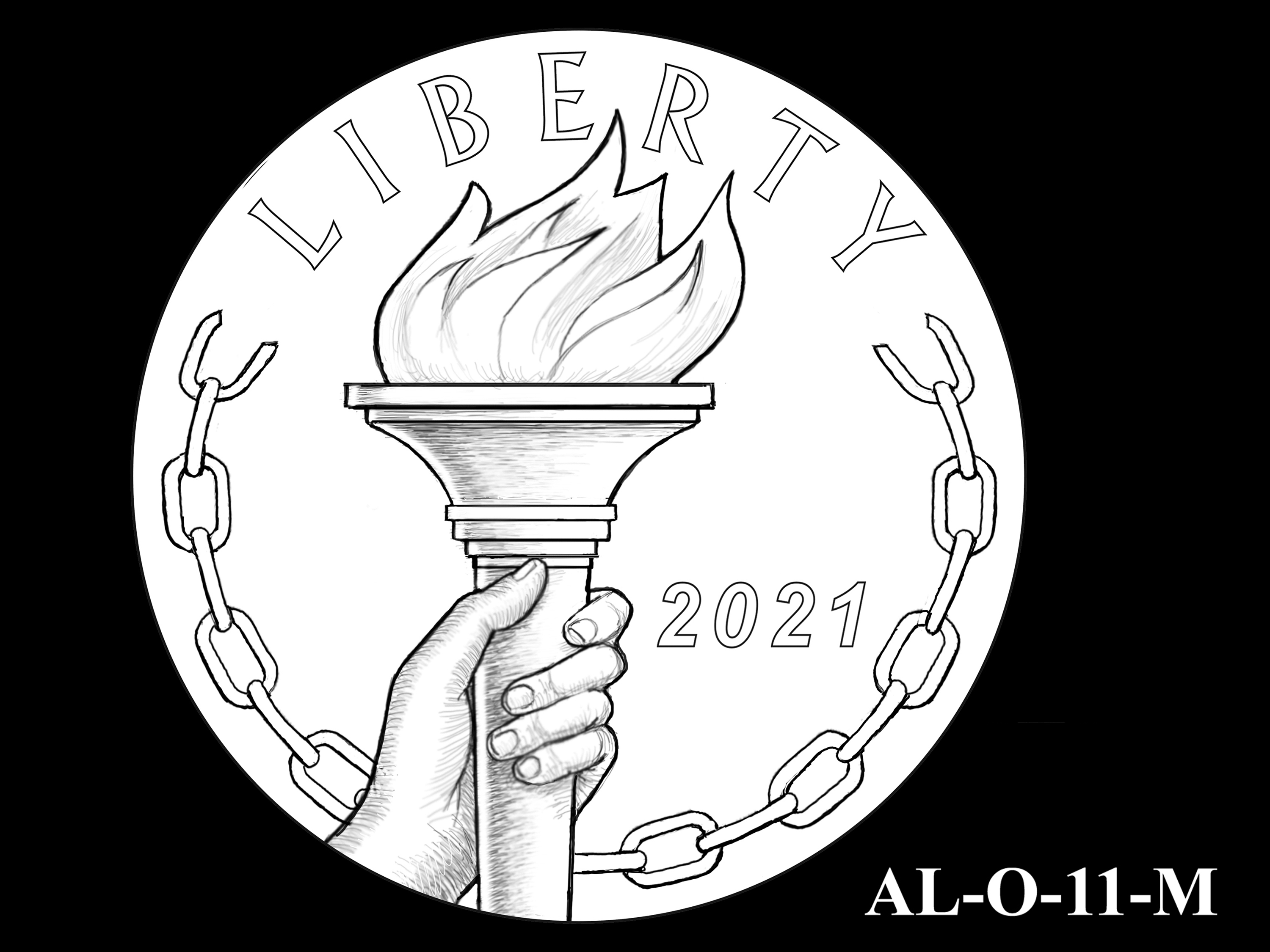 AL-O-11-M -- 2021 American Liberty Gold Coin and Silver Medal Program - Obverse