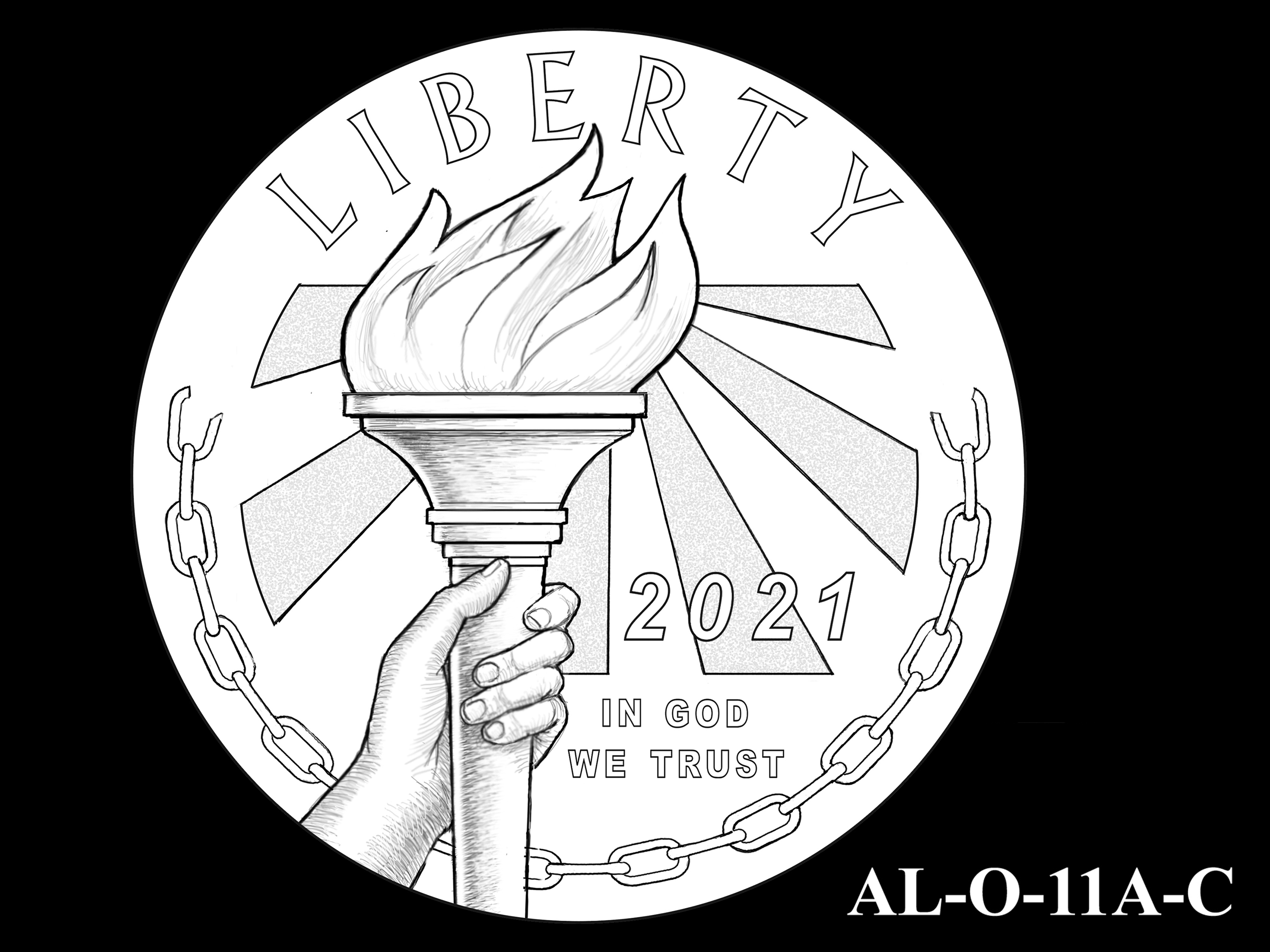AL-O-11A-C -- 2021 American Liberty Gold Coin and Silver Medal Program - Obverse