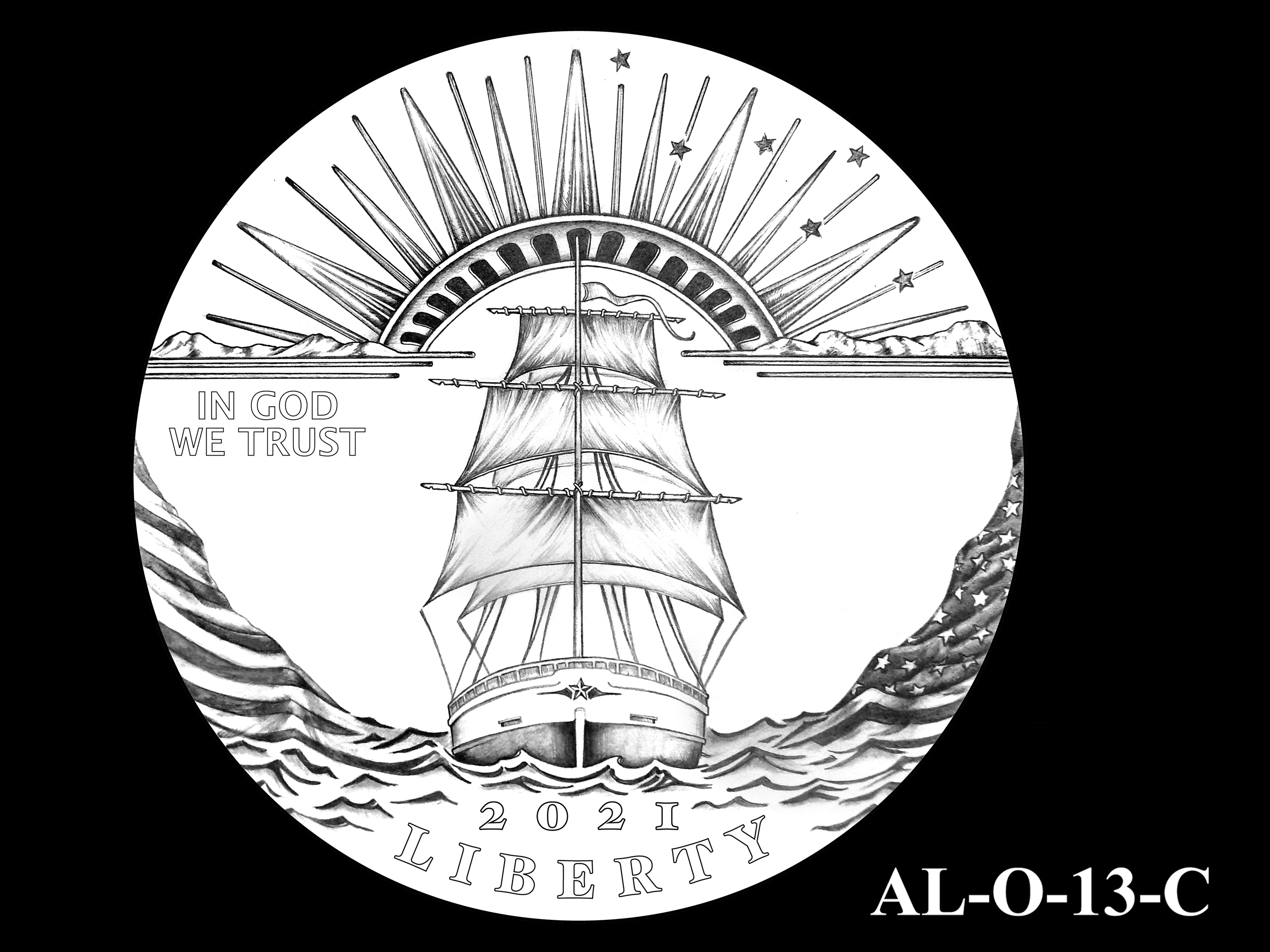 AL-O-13-C -- 2021 American Liberty Gold Coin and Silver Medal Program - Obverse