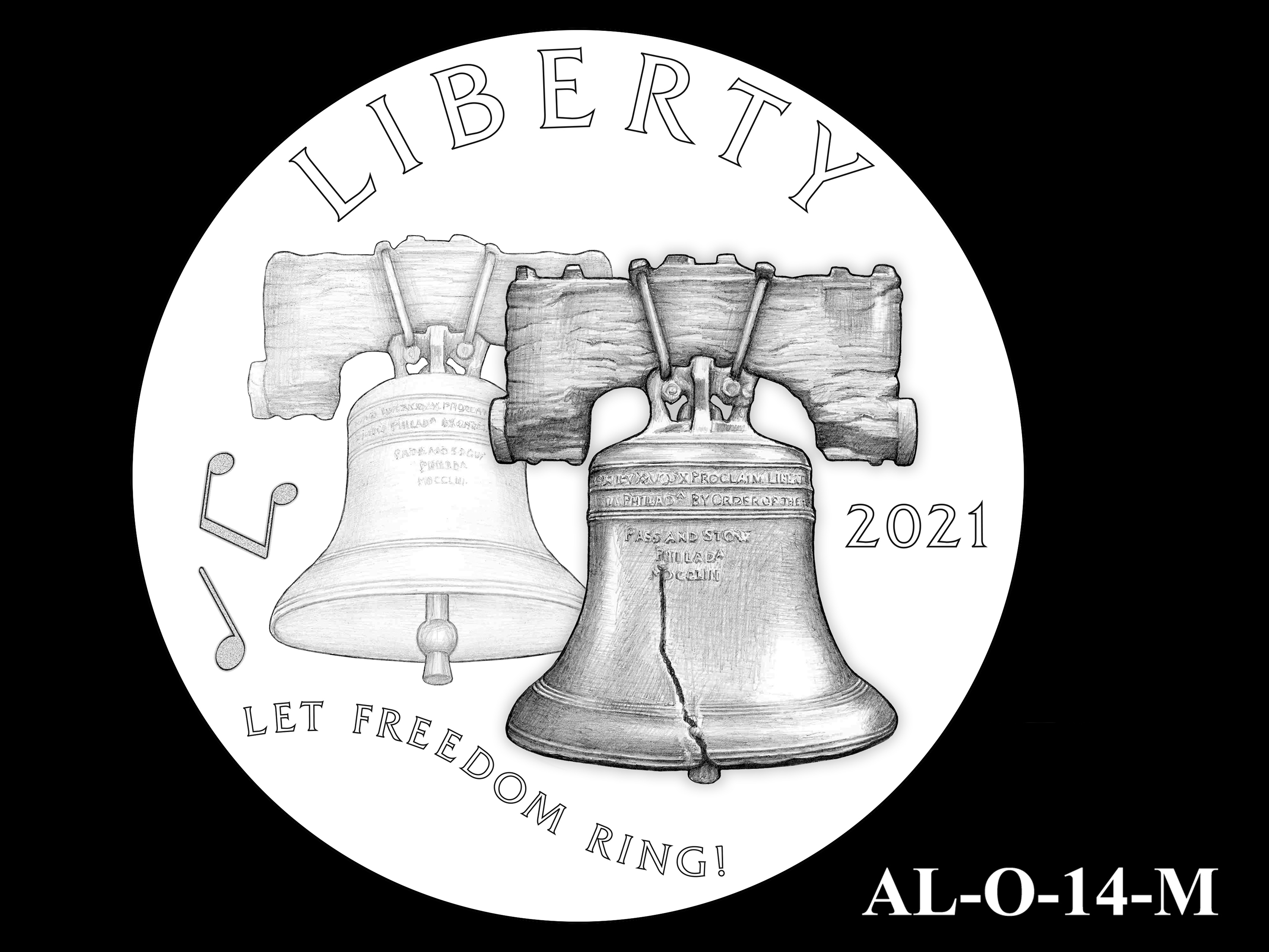 AL-O-14-M -- 2021 American Liberty Gold Coin and Silver Medal Program - Obverse