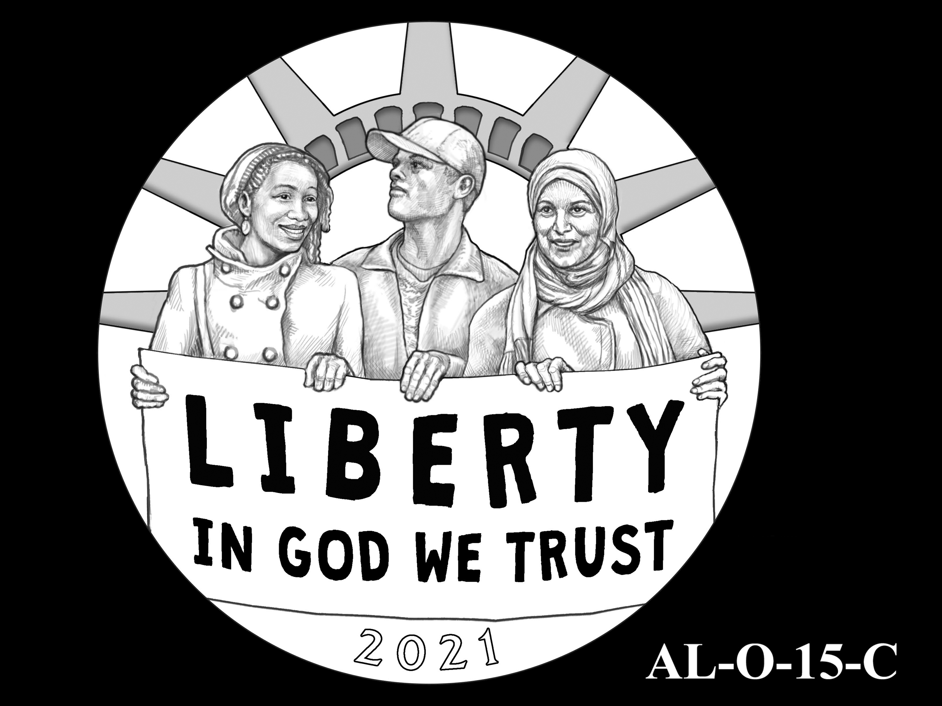 AL-O-15-C -- 2021 American Liberty Gold Coin and Silver Medal Program - Obverse