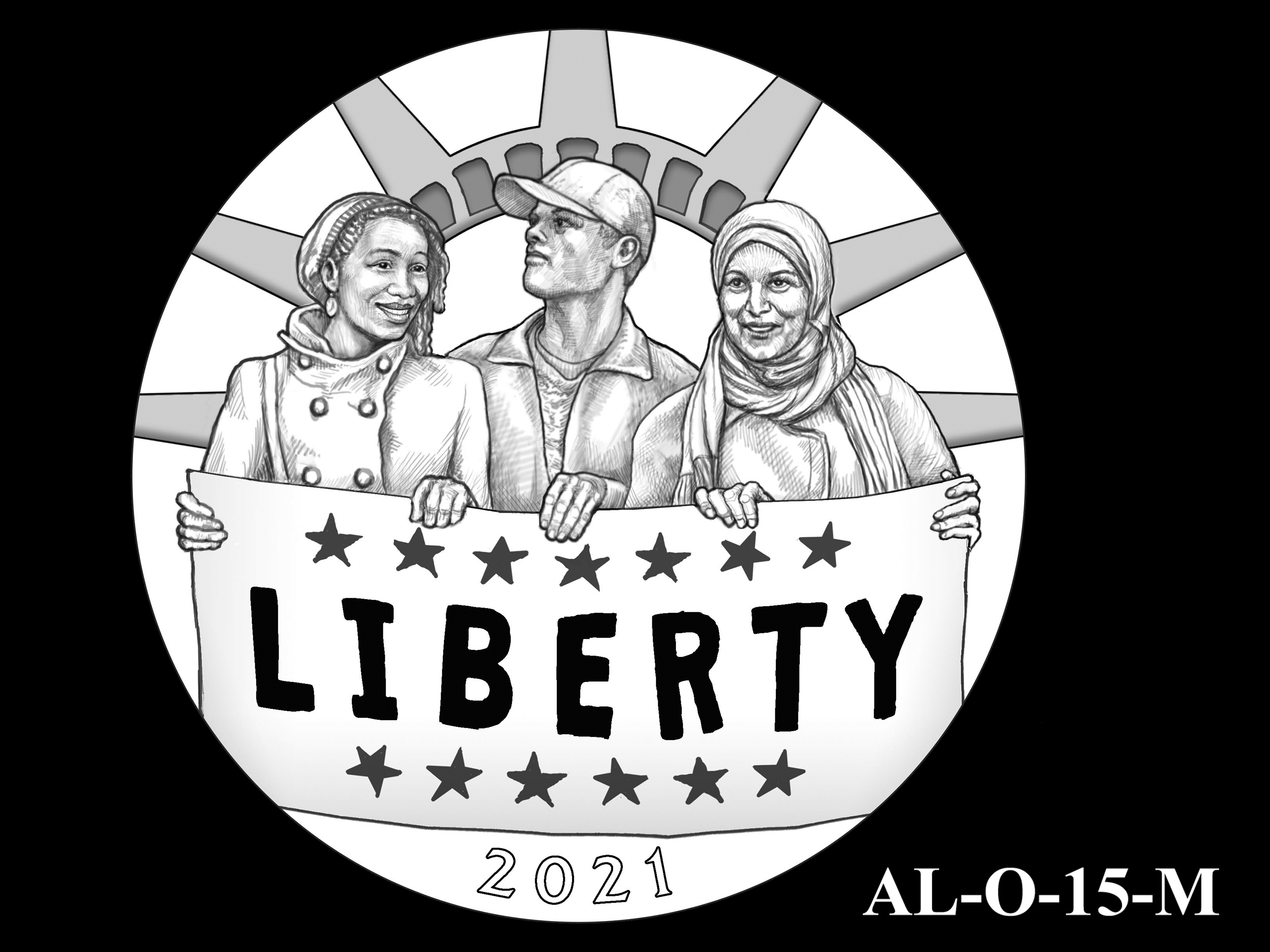 AL-O-15-M -- 2021 American Liberty Gold Coin and Silver Medal Program - Obverse