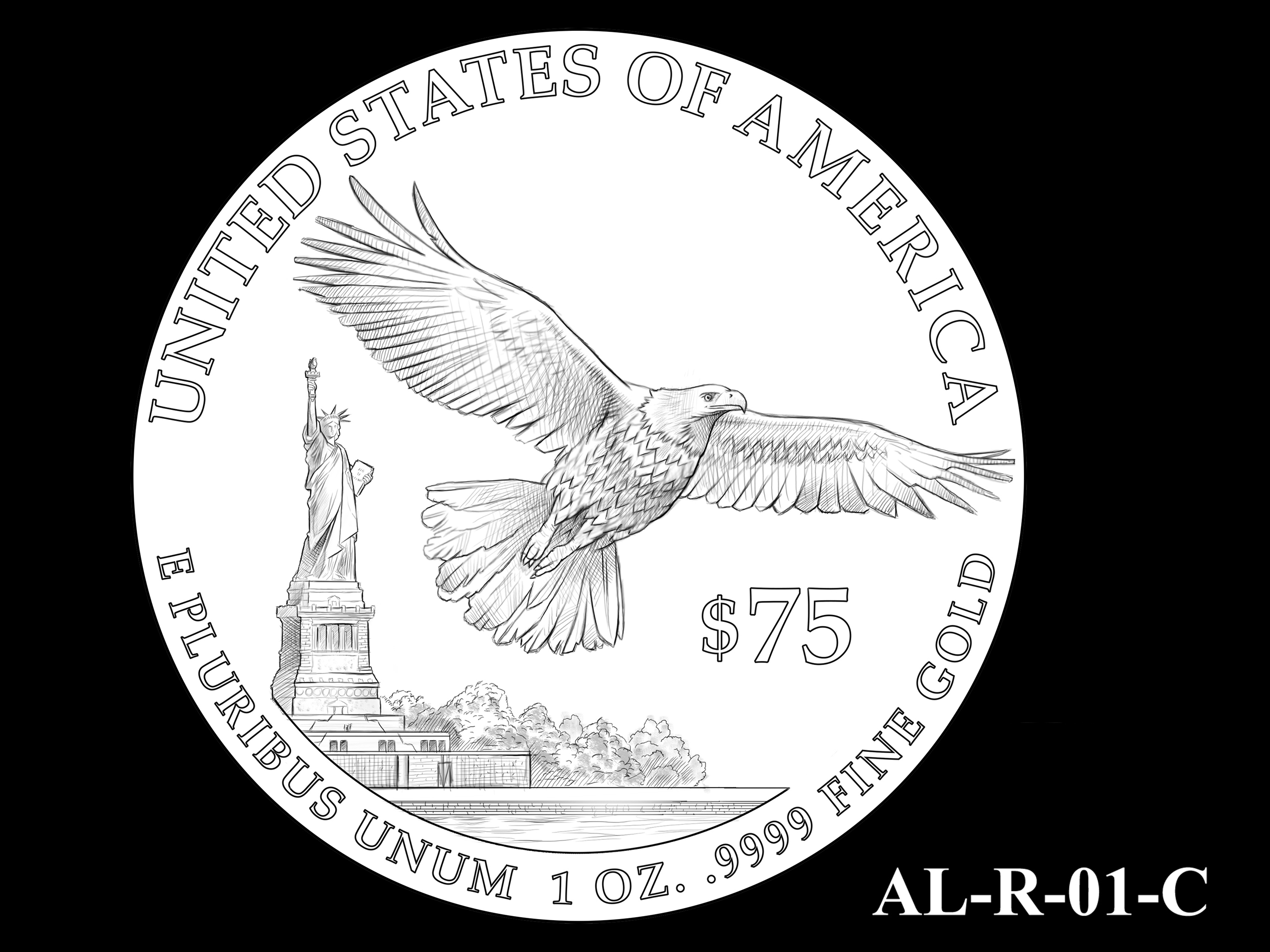 AL-R-01-C -- 2021 American Liberty Gold Coin and Silver Medal Program - Reverse
