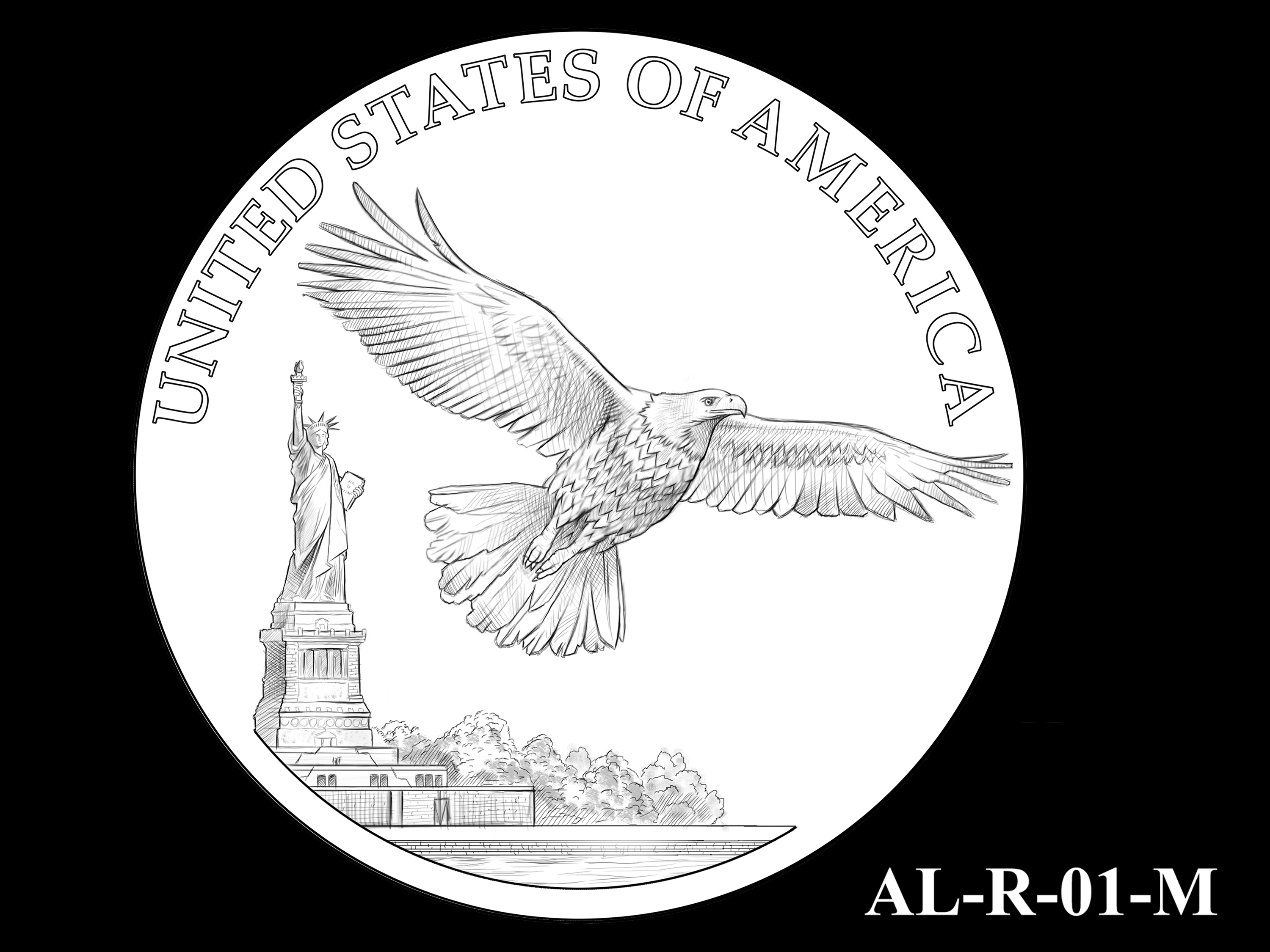 AL-R-01-M -- 2021 American Liberty Gold Coin and Silver Medal Program - Reverse