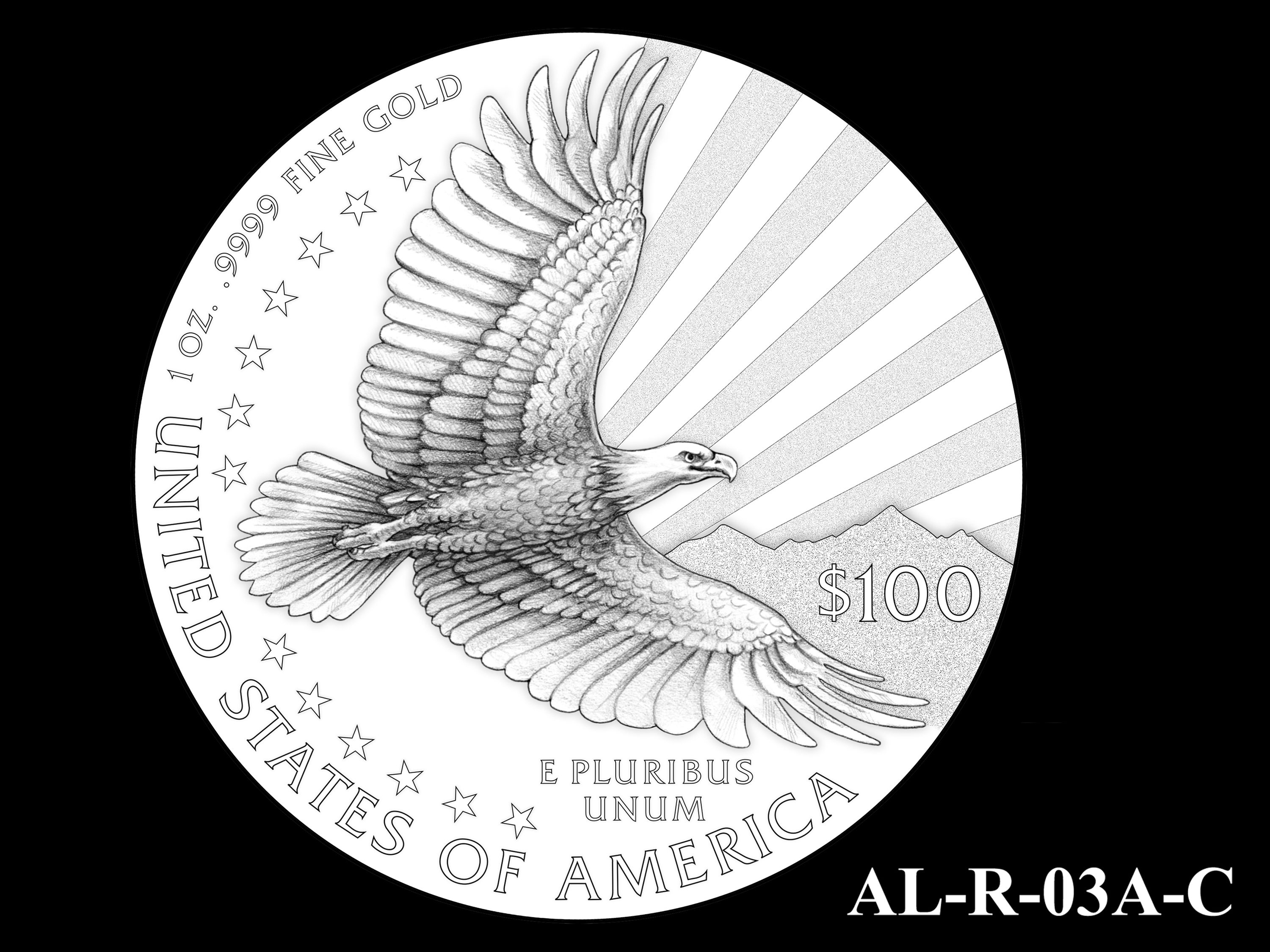 AL-R-03A-C -- 2021 American Liberty Gold Coin and Silver Medal Program - Reverse
