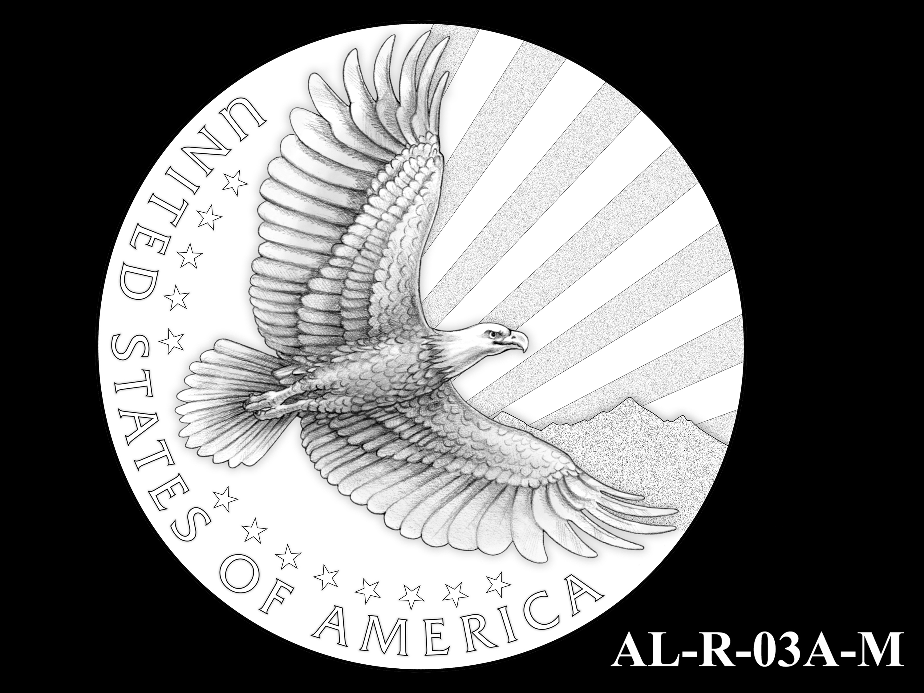 AL-R-03A-M -- 2021 American Liberty Gold Coin and Silver Medal Program - Reverse