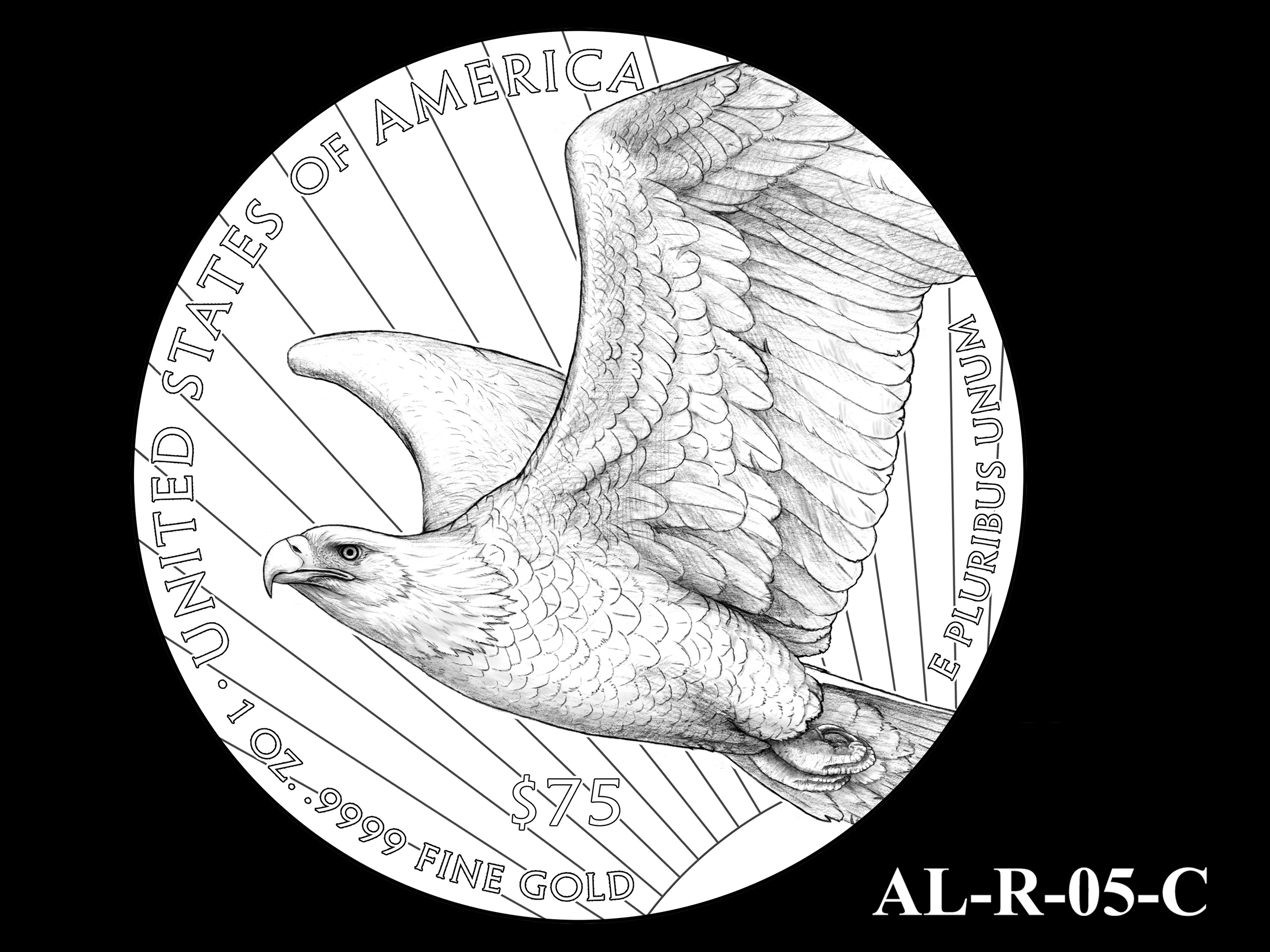 AL-R-05-C -- 2021 American Liberty Gold Coin and Silver Medal Program - Reverse
