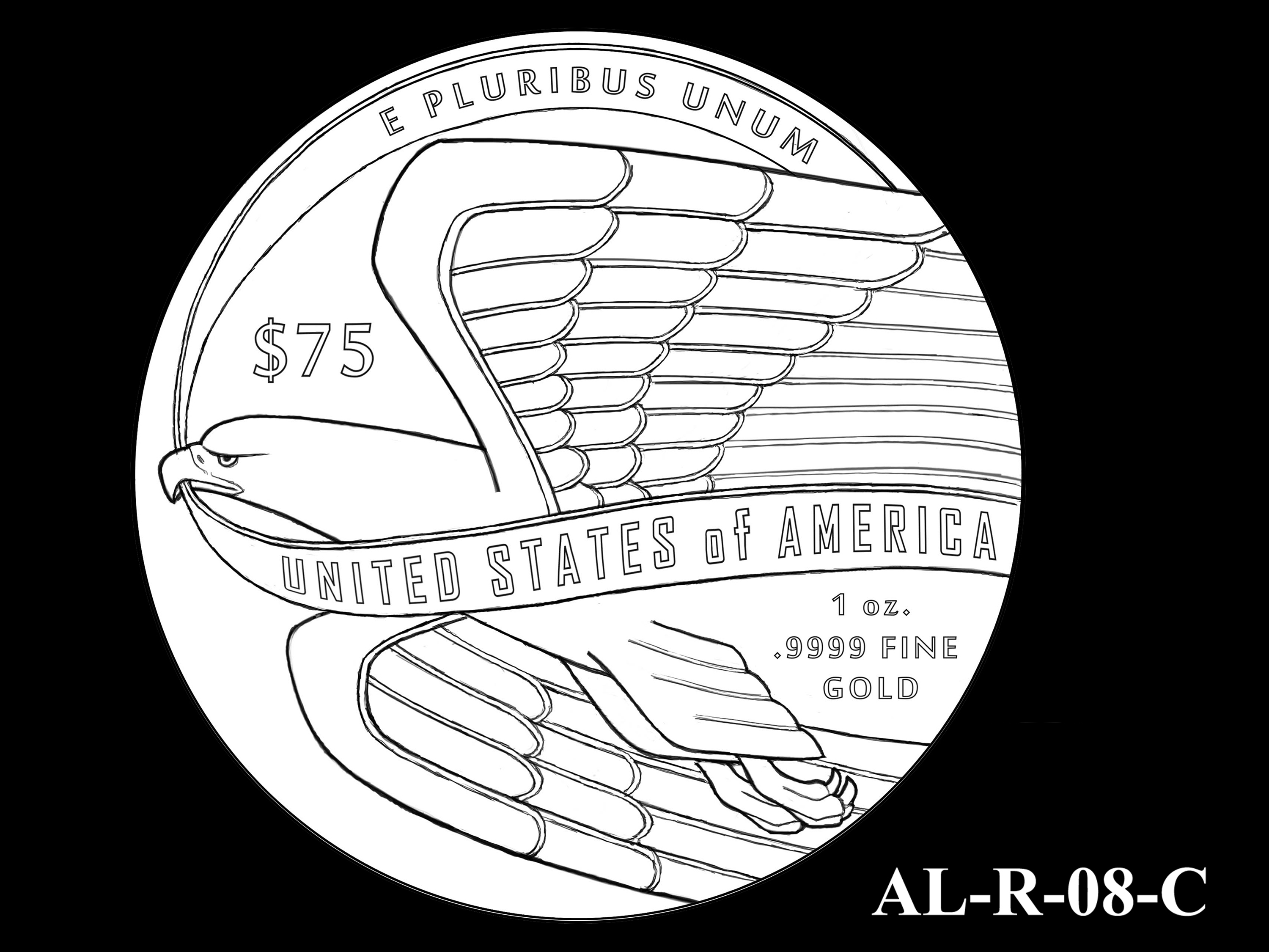 AL-R-08-C -- 2021 American Liberty Gold Coin and Silver Medal Program - Reverse