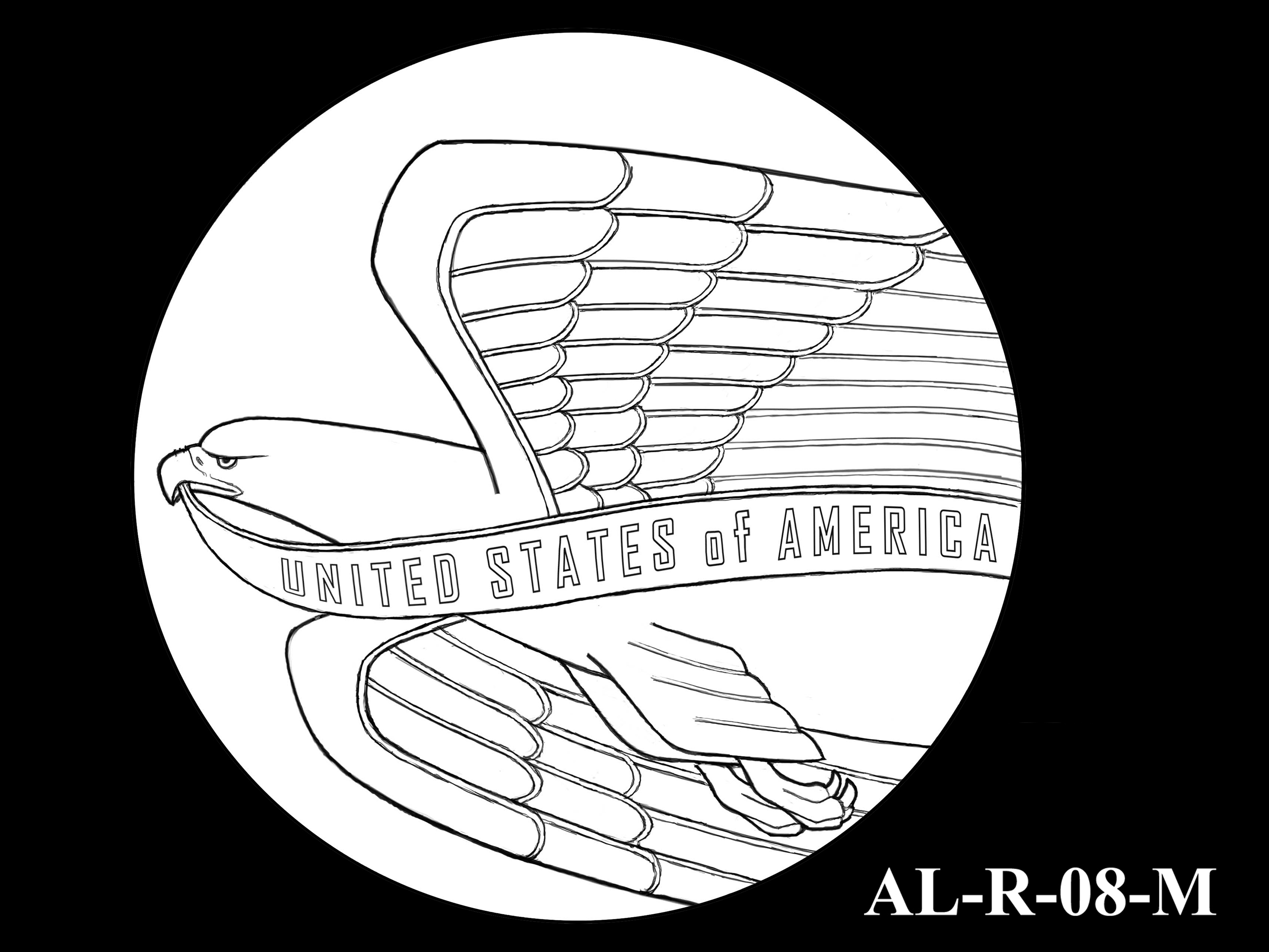 AL-R-08-M -- 2021 American Liberty Gold Coin and Silver Medal Program - Reverse