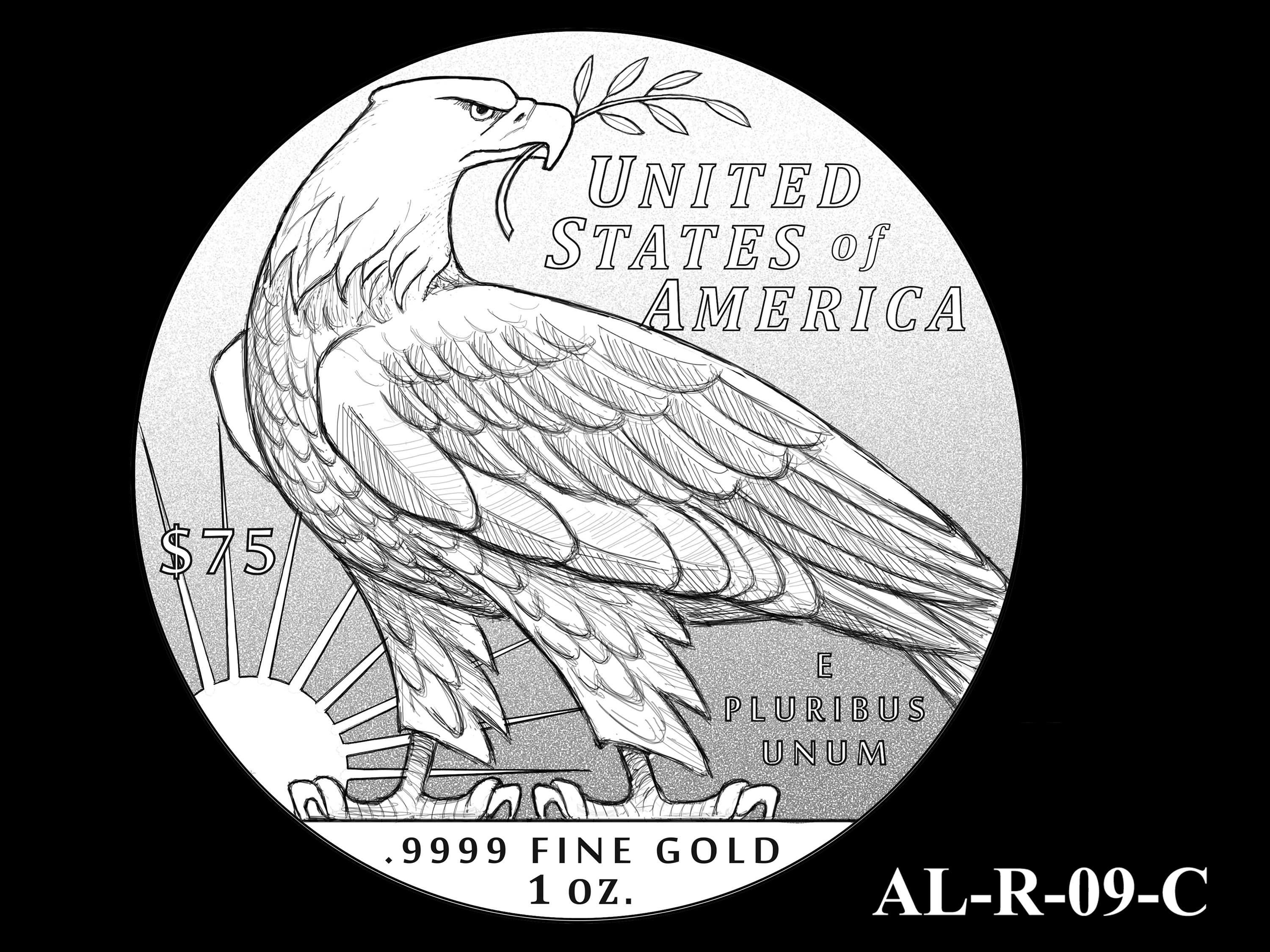 AL-R-09-C -- 2021 American Liberty Gold Coin and Silver Medal Program - Reverse