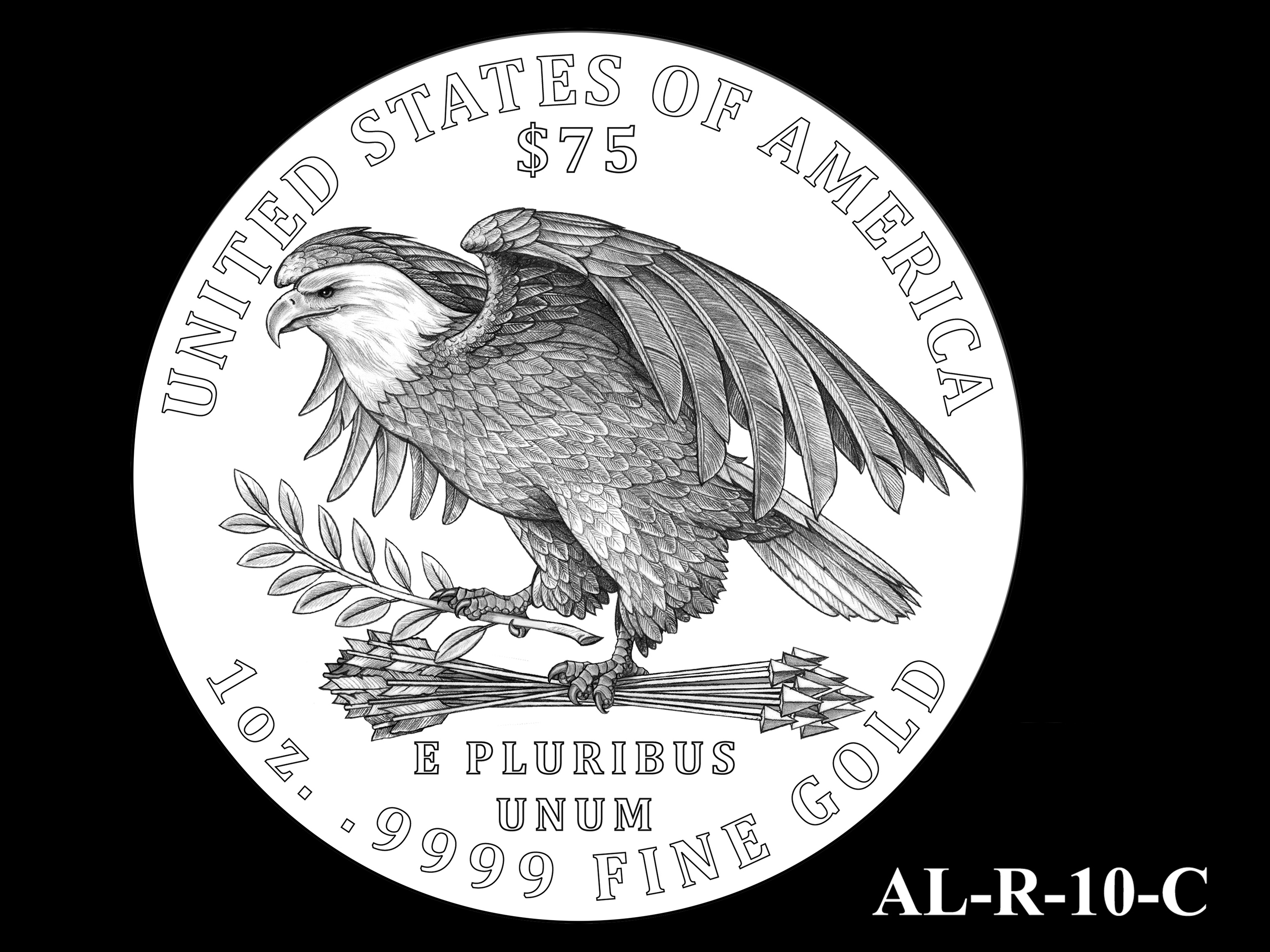 AL-R-10-C -- 2021 American Liberty Gold Coin and Silver Medal Program - Reverse