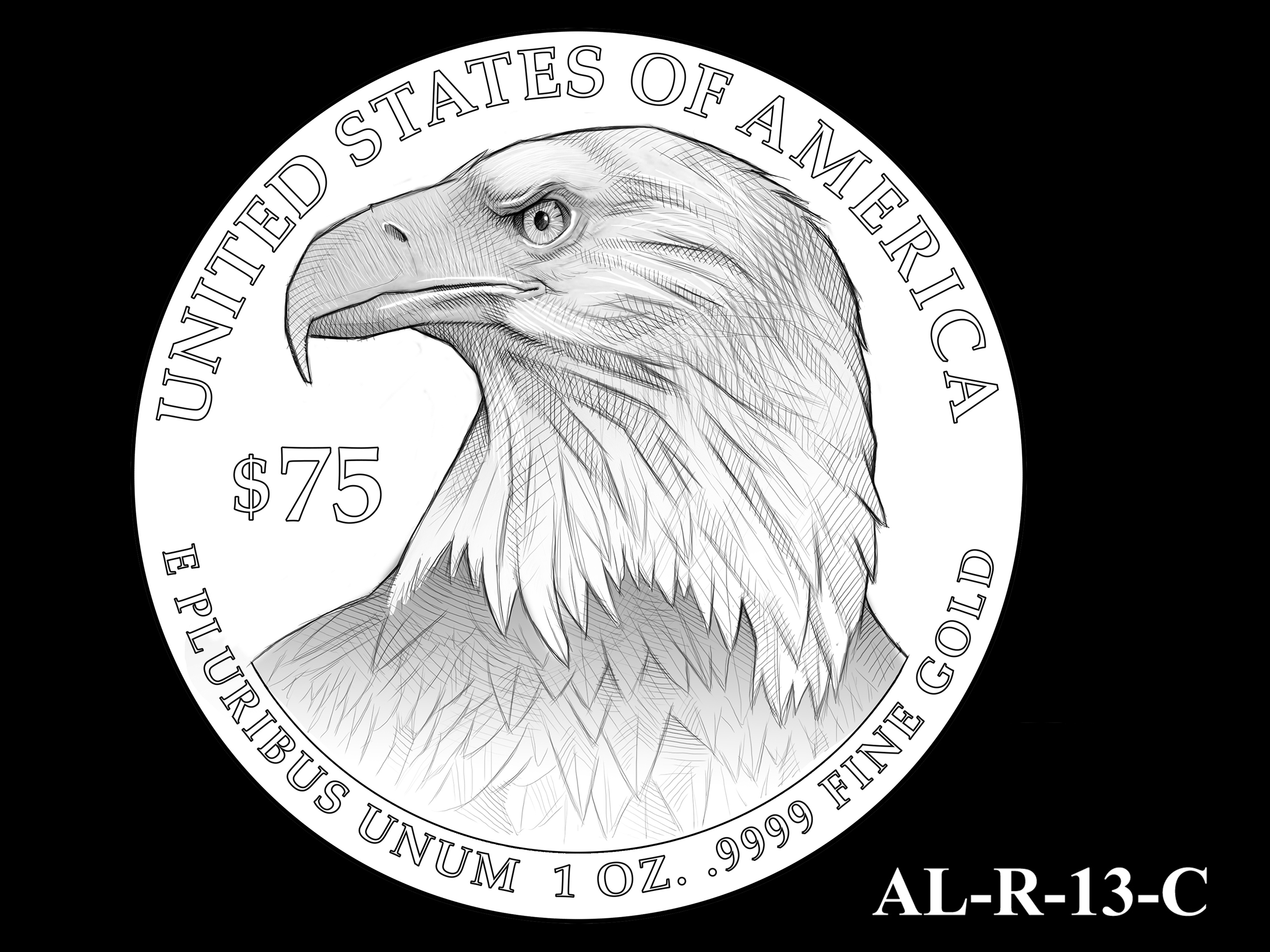 AL-R-13-C -- 2021 American Liberty Gold Coin and Silver Medal Program - Reverse