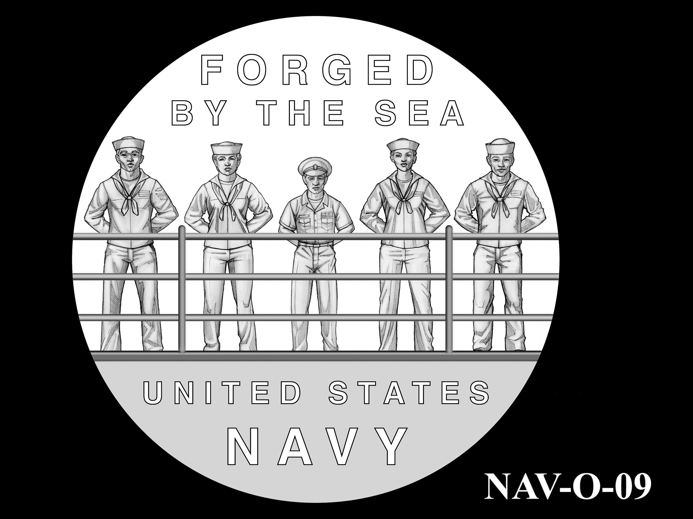 NAV-O-09 -- 2021 United States Navy Silver Medal  - Obverse