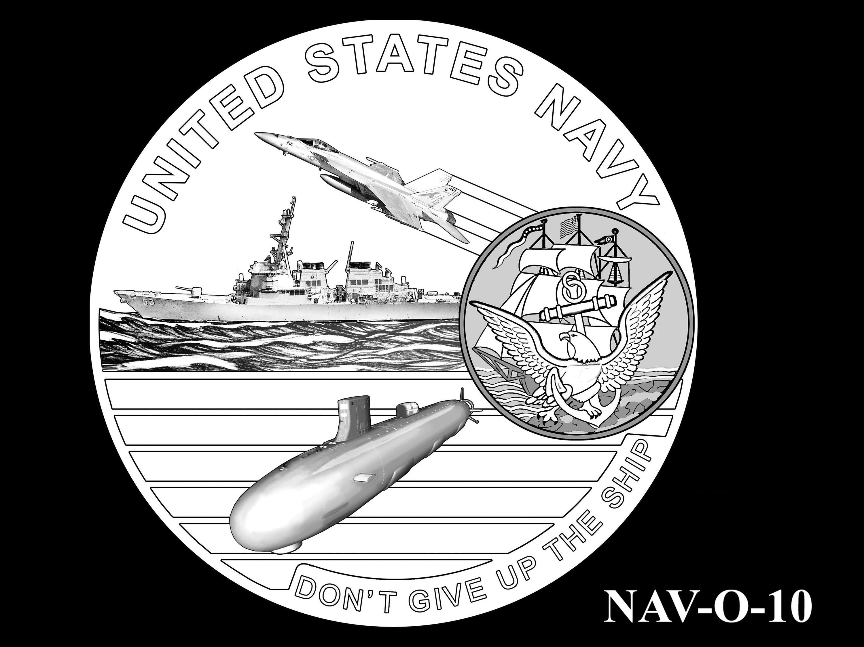 NAV-O-10 -- 2021 United States Navy Silver Medal  - Obverse