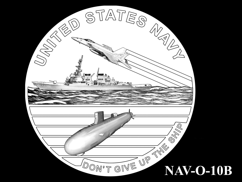 NAV-O-10B -- 2021 United States Navy Silver Medal  - Obverse
