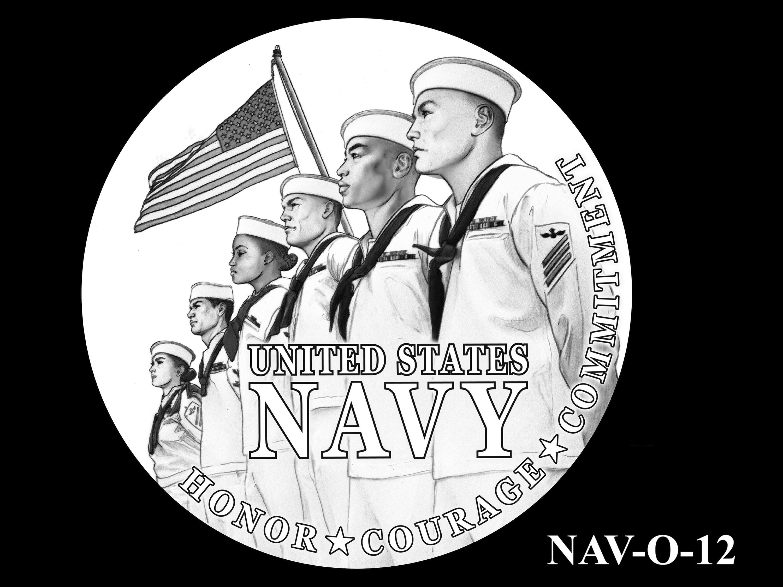 NAV-O-12 -- 2021 United States Navy Silver Medal  - Obverse