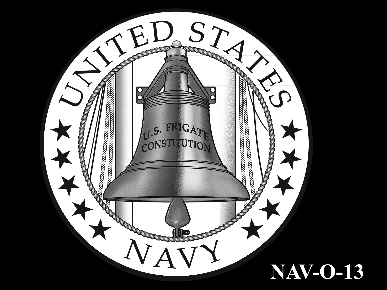 NAV-O-13 -- 2021 United States Navy Silver Medal  - Obverse
