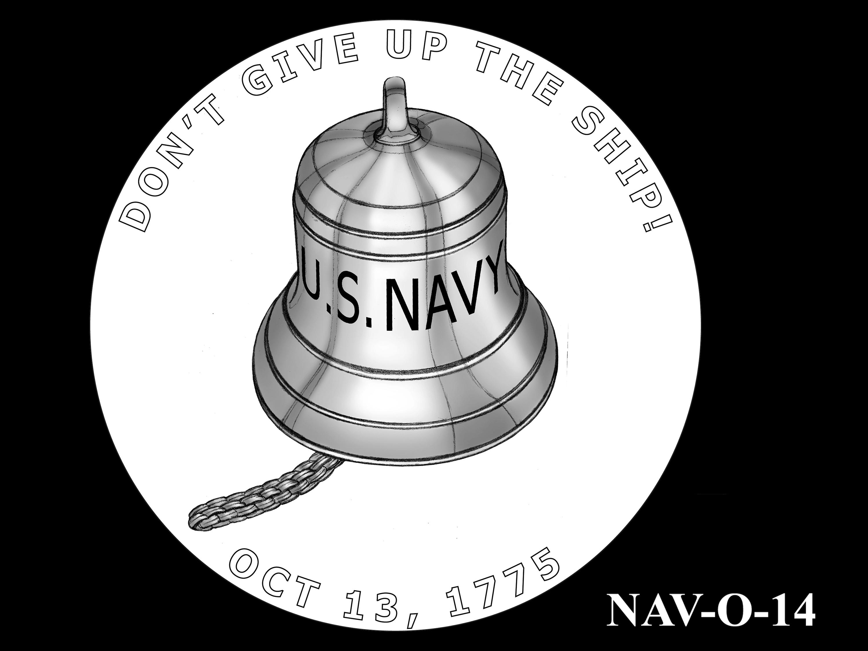 NAV-O-14 -- 2021 United States Navy Silver Medal  - Obverse