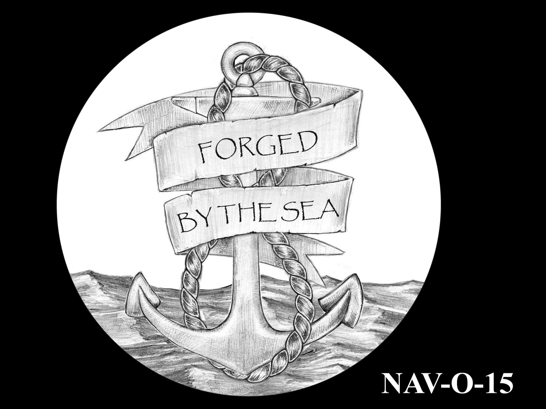 NAV-O-15 -- 2021 United States Navy Silver Medal  - Obverse