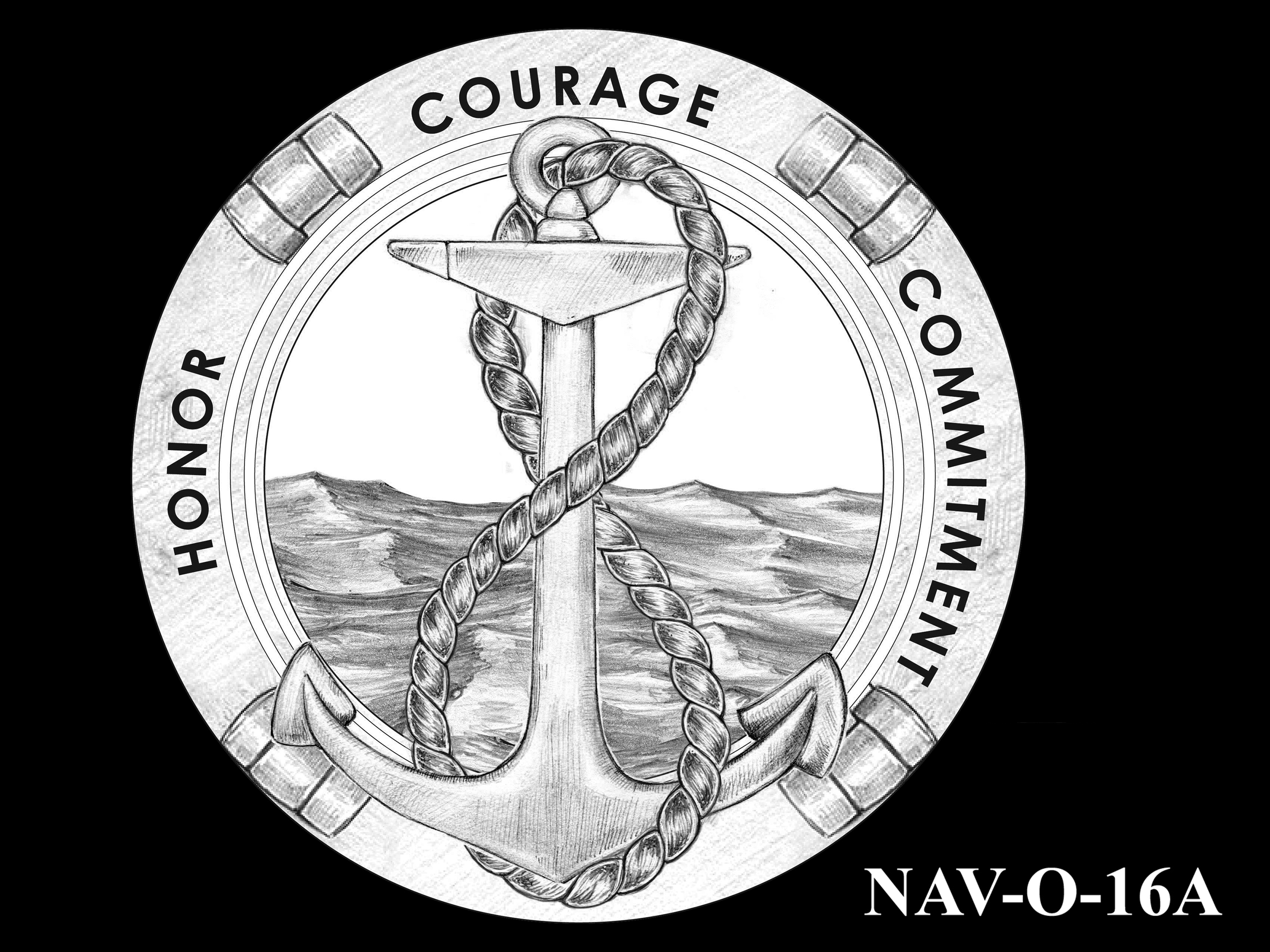 NAV-O-16A -- 2021 United States Navy Silver Medal  - Obverse