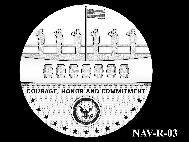 NAV-R-03 -- 2021 United States Navy Silver Medal  - Reverse