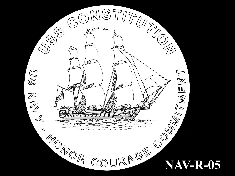 NAV-R-05 -- 2021 United States Navy Silver Medal  - Reverse